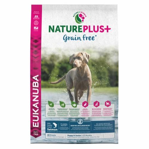 Eukanuba Nature plus kornfri puppy all breeds laks 10 kg