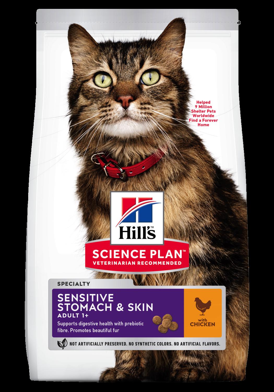 Hill's Feline Adult Sensitive Stomach & Skin Chicken 1,5 kg