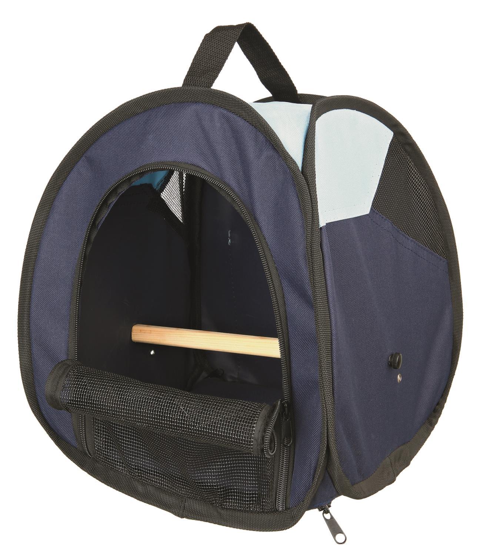 Transportbag til fugl blå 27x32x27cm