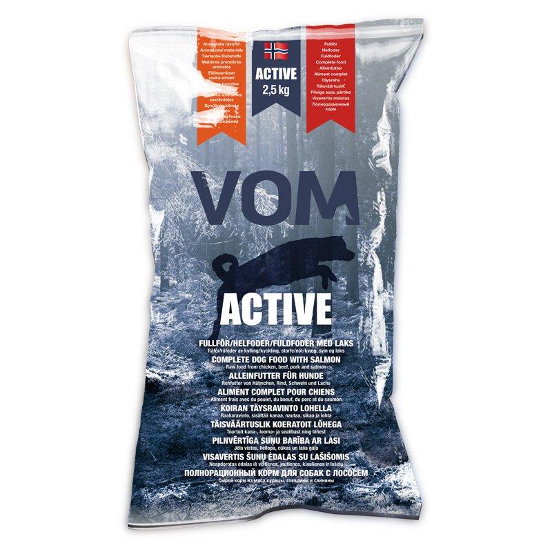 Vom & Hundemat kjøttboller Active m/laks 2,5kg nr25