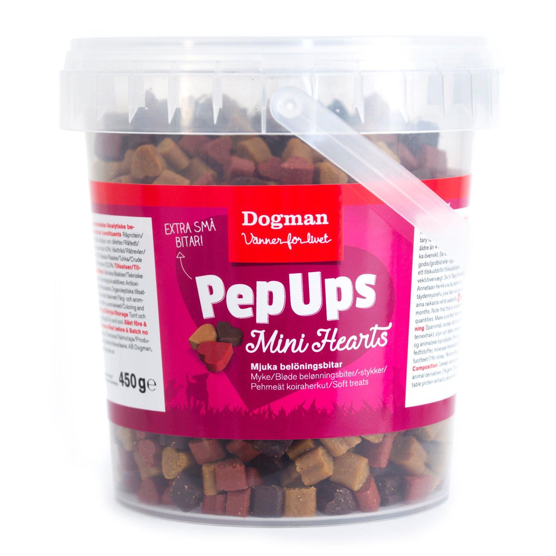 Pep Ups mini hjerter 450g