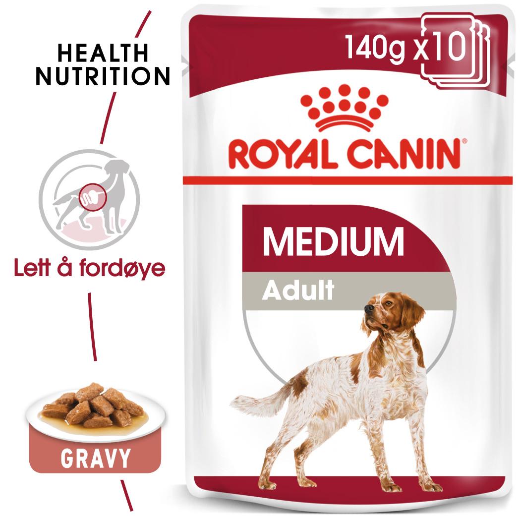 Royal Canin Medium adult våtfor 10x140gr