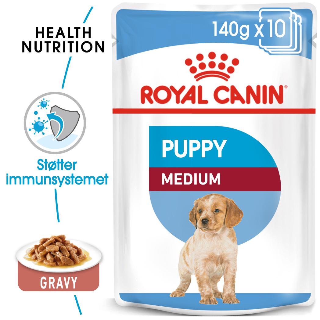 Royal Canin Medium puppy våtfor 10x140gr