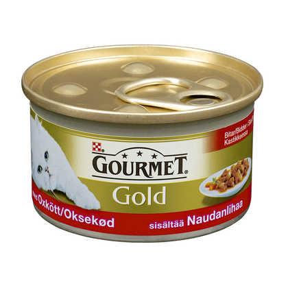 Gourmet Gold Oksekjøtt i saus 85g