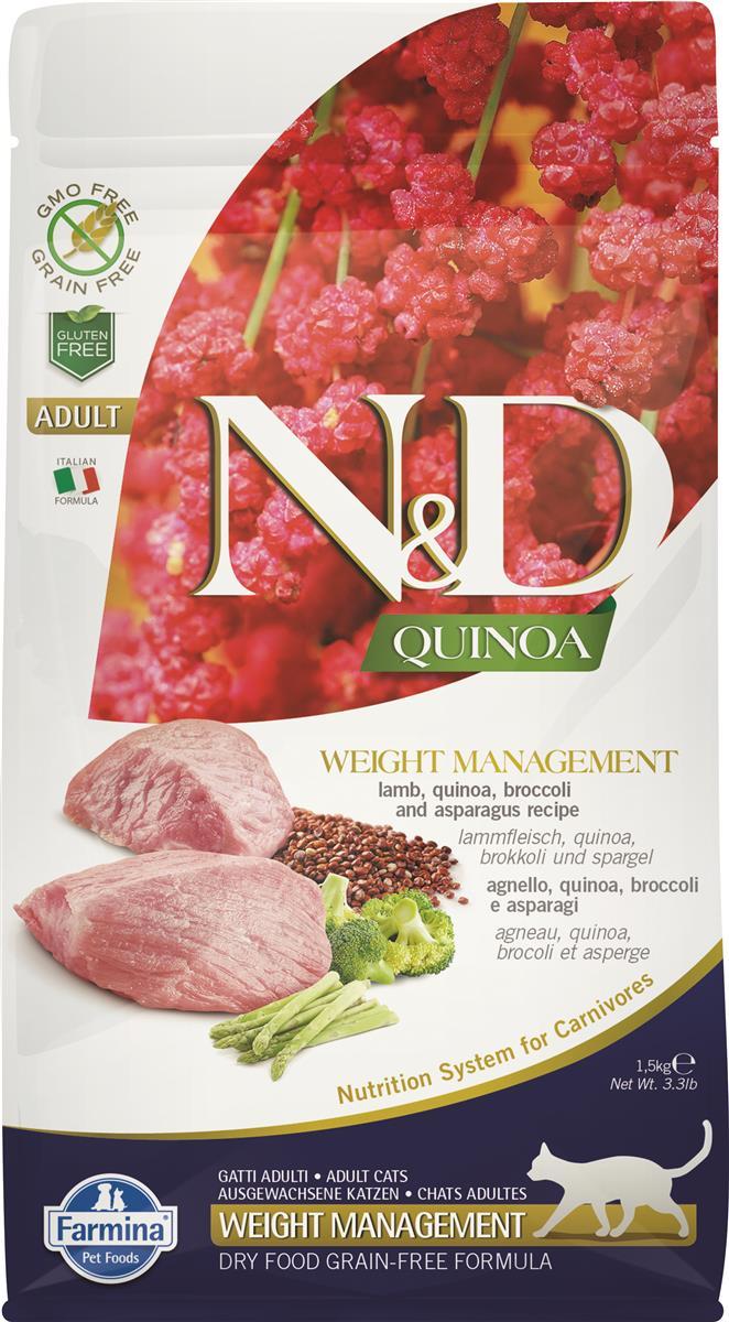 Farmina N&D cat Quinoa weight management Lamb 1,5kg
