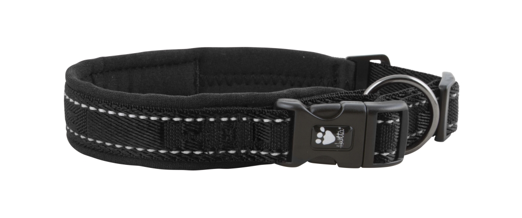 Hurtta halsbånd casual 30-40cm svart