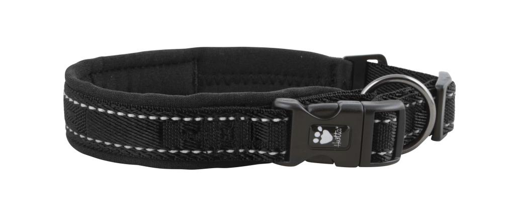 Hurtta halsbånd casual 35-45cm svart