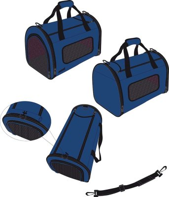 Transportveske 41,5*25*25 cm Blå