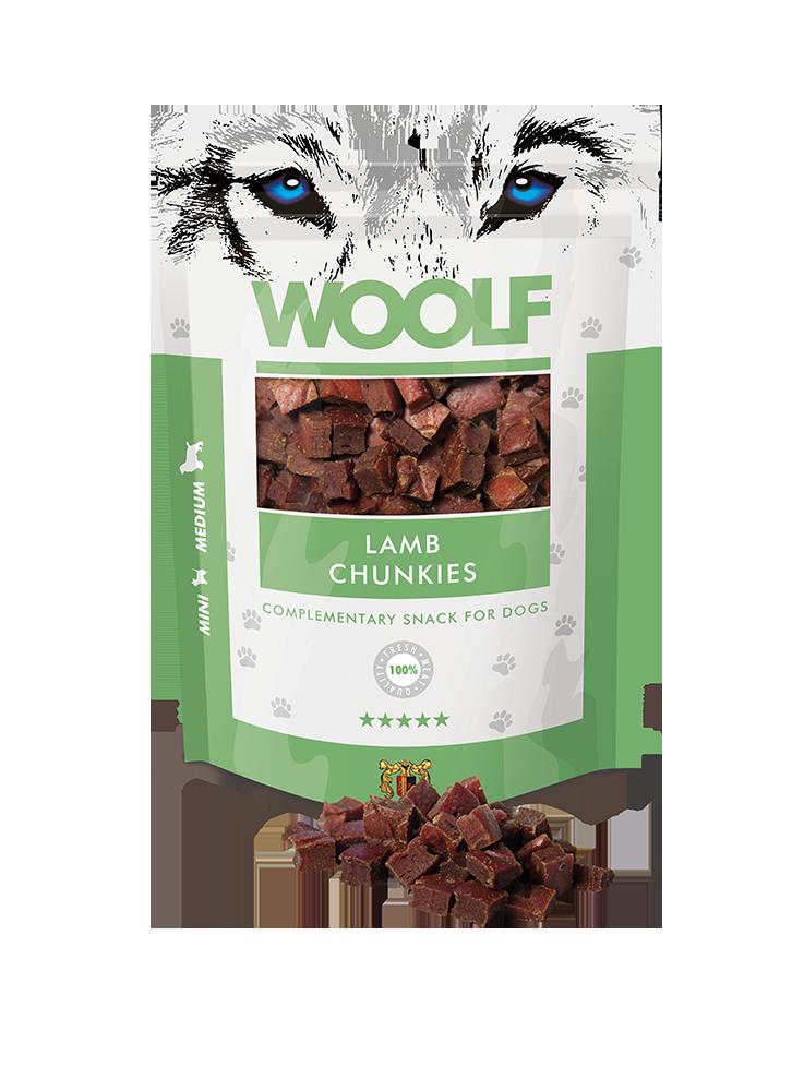 Woolf lamb chunkies 100gr