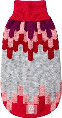 Go Fresh Pet strikket genser blackcomb rosa L 46cm