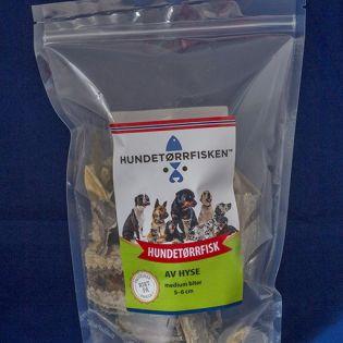 Hundetørrfisk av hyse Medium  5-6cm 500g