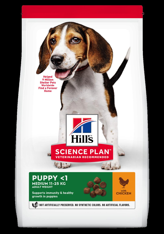 Hill's Canine Puppy medium chicken 2,5 kg
