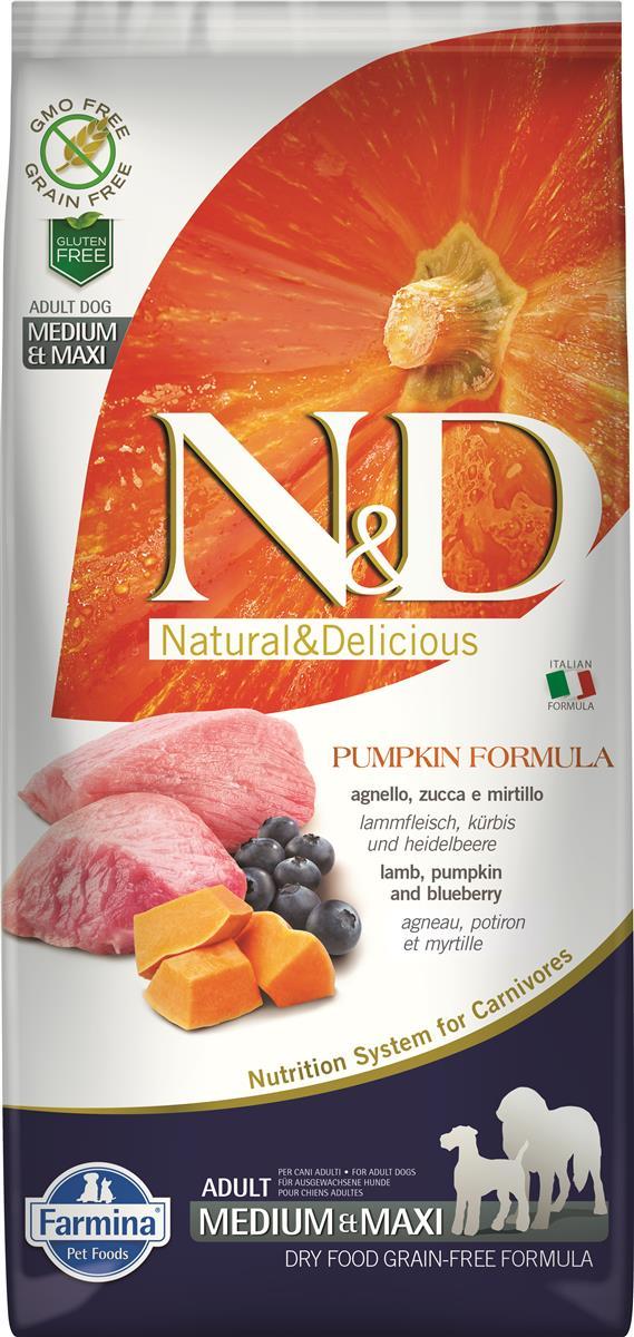 Farmina N&D Pumpkin lamb and blueberry medium/maxi adult 12 kg