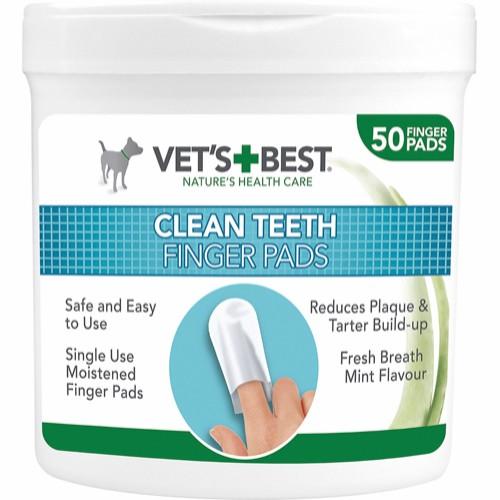 Vets best Clean Fingertupper til tannpleie 50stk