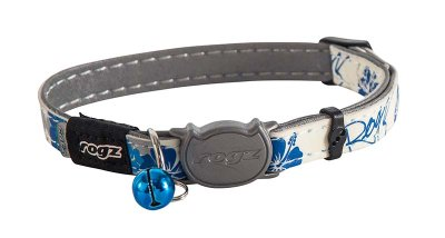 Rogz Glowcat Halsbånd S blå 11mm 20-31cm