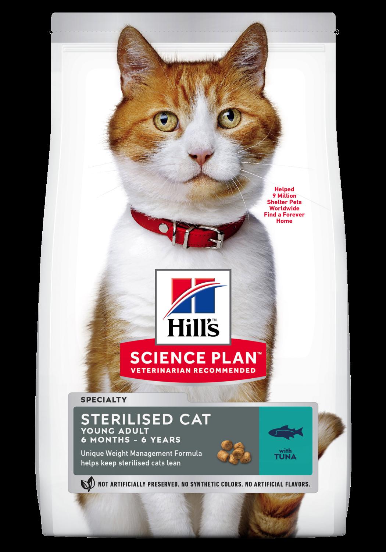 Hill's Feline young adult sterilised tuna 7 kg