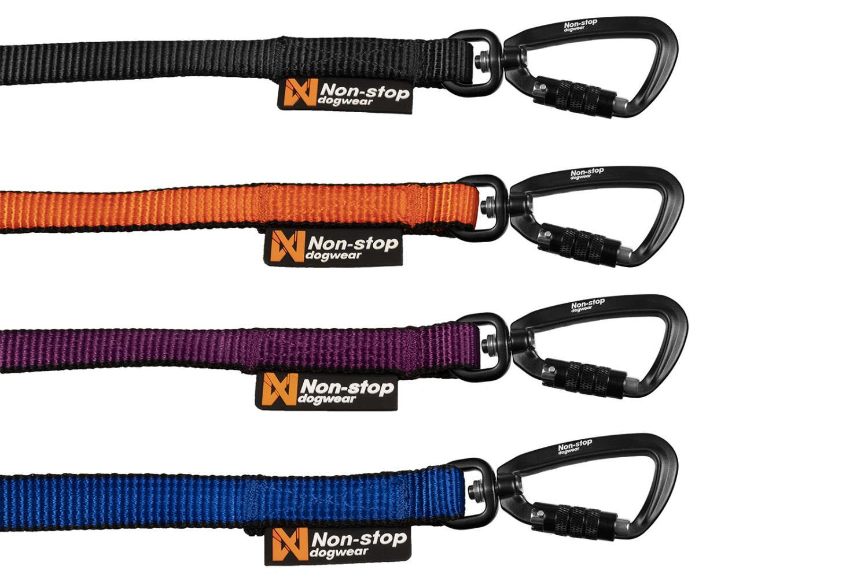 Non-Stop Rock leash kobbel svart 10mm 150cm