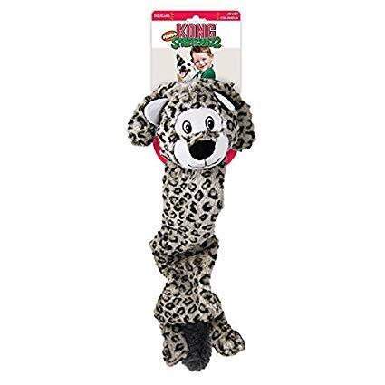 Hundeleke Kong Stretchezz Jumbo Snow Leopard XL
