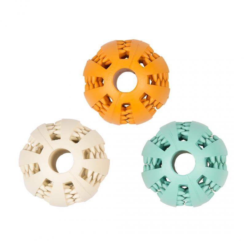 Hundeleke Dental ball i gummi m/smak 7cm