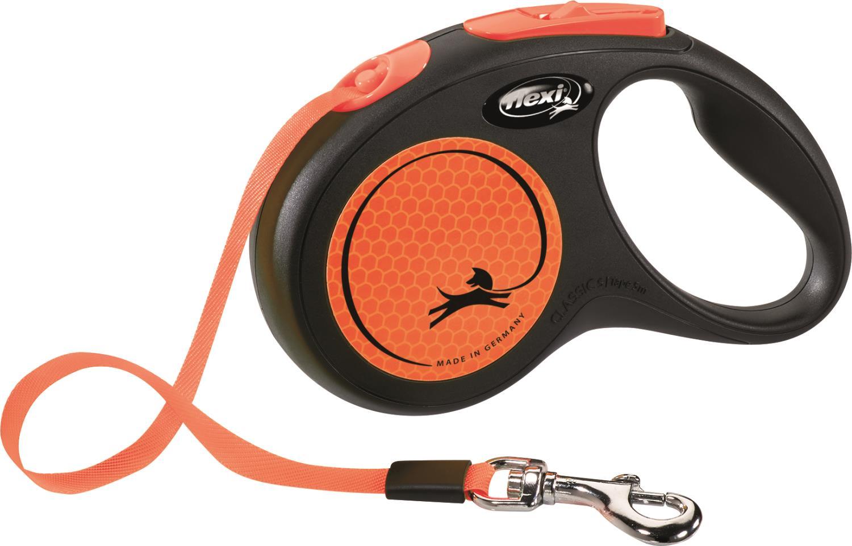 Flexi Kobbel Neon S 5m tape oransje