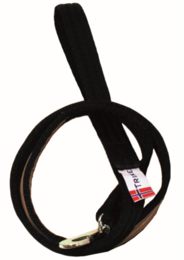 Kobbel i webb m.refleks sort 18mm x 250cm