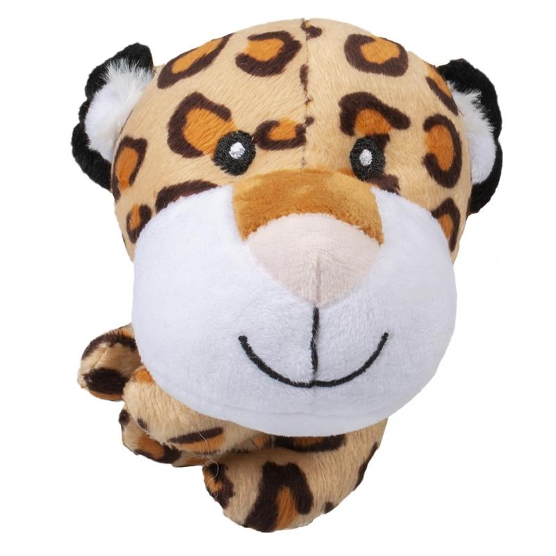 Hundeleke Leopard Mini plysj 8x13x11cm