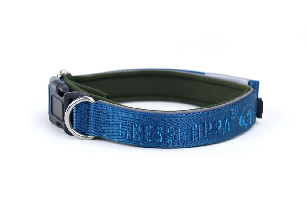 Begna Halsbånd Aqua blå 45-55cm