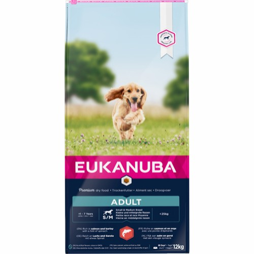Eukanuba Adult Small/medium laks salmon & barley 12 kg