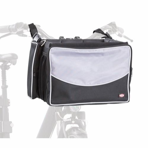 Front Box til sykkel 41x26x26cm sort/grå