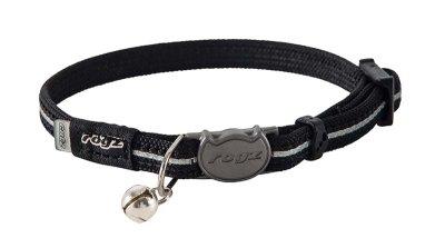 Rogz Alleycat Halsbånd XS svart 8mm 16,5cm-23cm