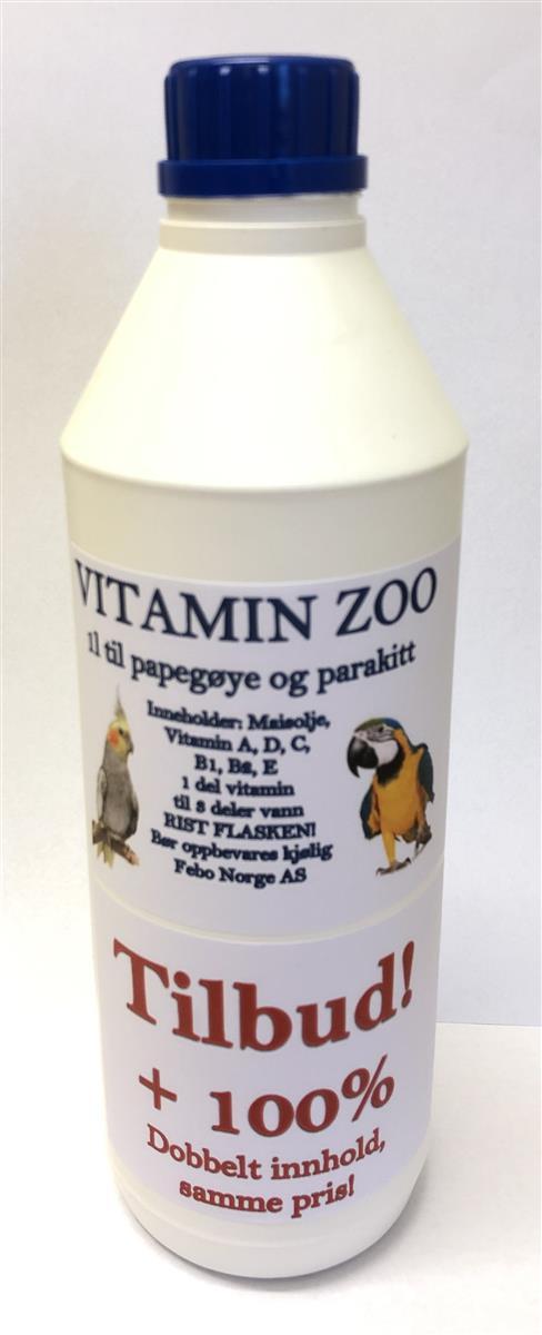 Vitamin zoo Papepgøye/parakitt 1L