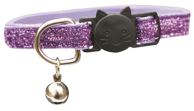 Trine Kattehalsbånd glitter Lilla