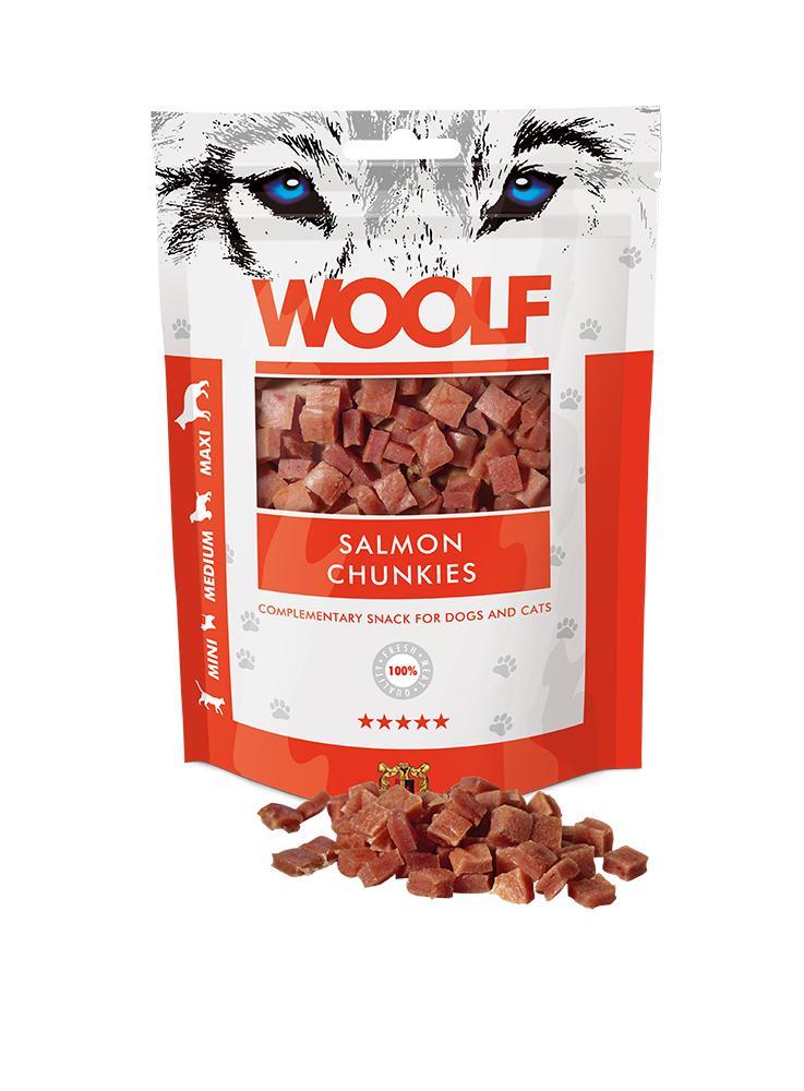 Woolf Salmon Chunkies 100gr