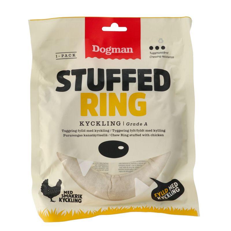 Chicken stuffed ring hvit L 15cm kylling