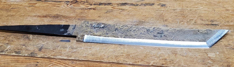 Knivblad Tanto Råsmidd 171 - 200 mm
