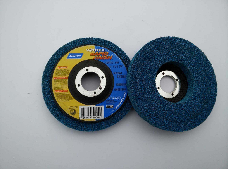 Polerskive Rapid finish blå, 125 x 22 mm