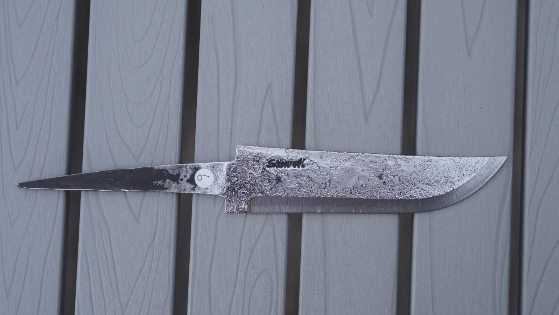 Knivblad, råsmidd, liten sving opp, 101 - 120 mm