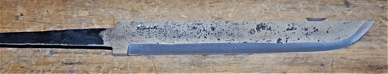 Knivblad. råsmidd, liten sving opp, 171 - 200 mm