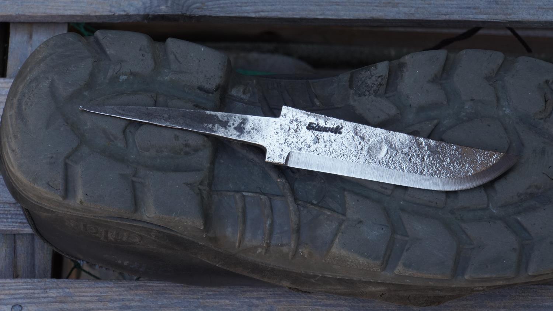 Knivblad, råsmidd, liten sving opp, 121 - 150 mm