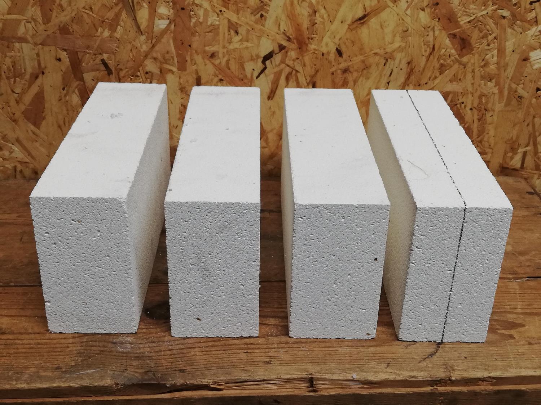 Isolasjon, 3-br. smed, stein til sider og bunn