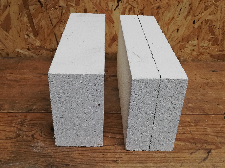 Isolasjon, 1-br. knivsmed, stein til sider og bunn