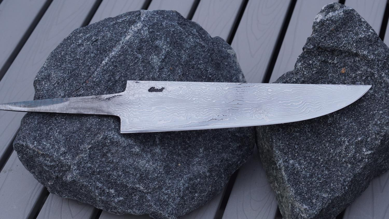 Kokkekniv, damask