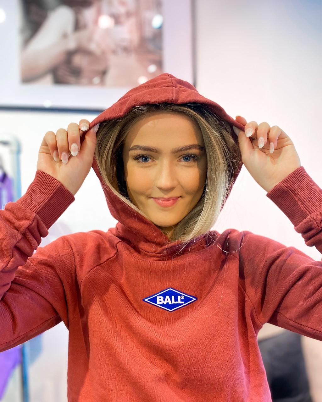Ball Rimini hoodie Bourdeaux