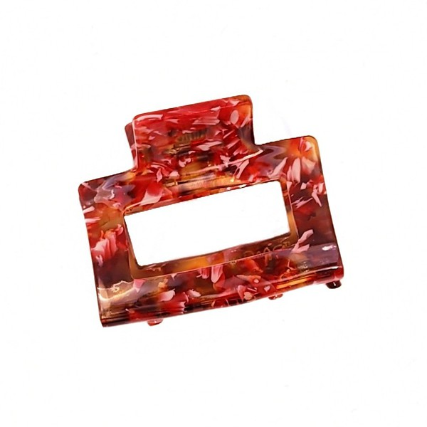 Hårklype medium firkant - Bringebær