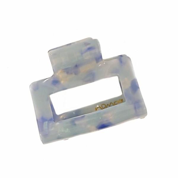 Hårklype medium firkant - Lys blå