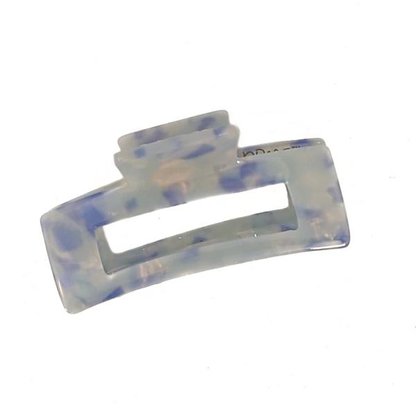 Hårklype stor firkant - Lys blå
