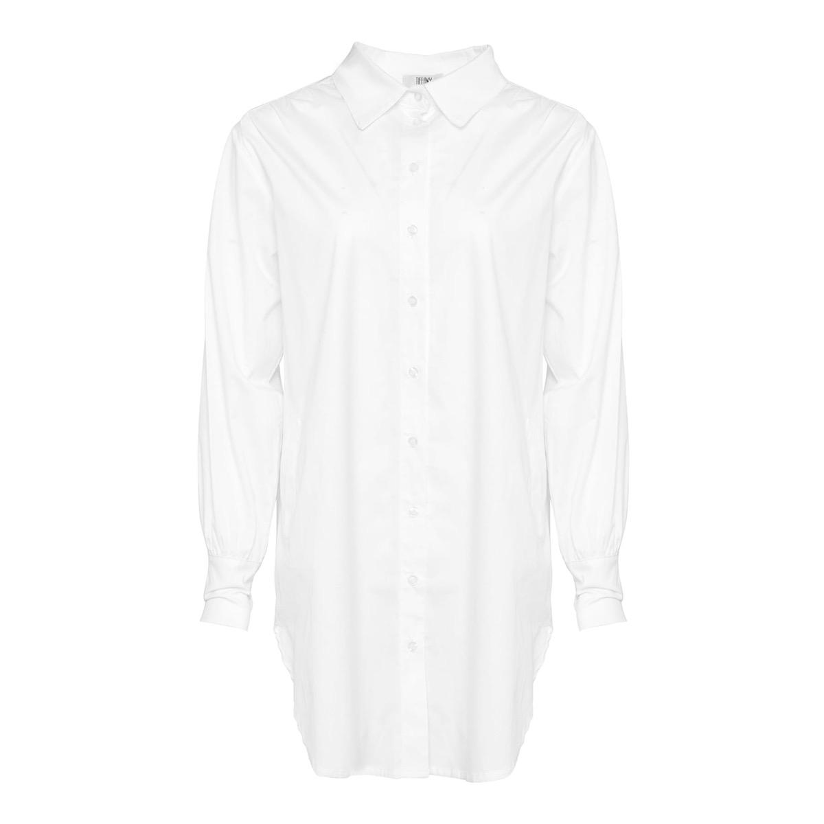 Ella Crinkle Shirt Hvit, Tiffany