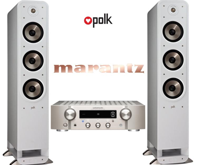 Musikkpakke med Marantz PM7000n og Polk Audio S60e
